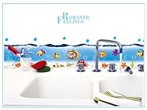Design Underwater World Sea World Bubble & Sea Water Wall Sticker Kitchen or Bathroom Decor by New Design