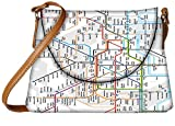 Snoogg London Tube Map Womens Carry Around Sling Bags