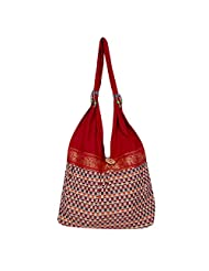 Womaniya Canvas Brown Handbag For Women(Size-32 Cm X 32 Cm X 10 Cm)
