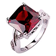 Yazilind Women's Ring with Princess C…