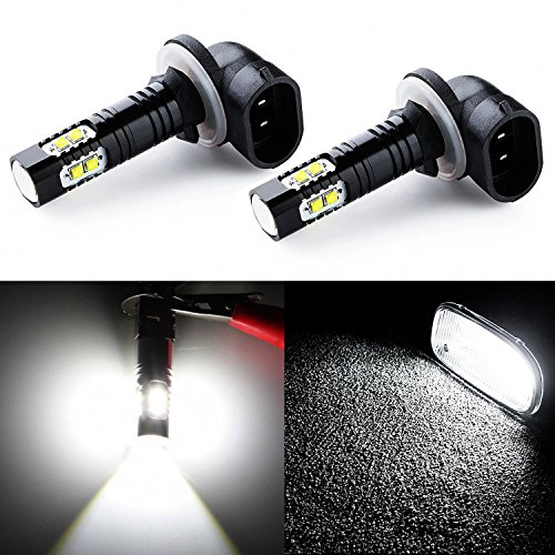 JDM ASTAR Extremely Bright Max 50W High Power 881 CREE LED Bulbs for DRL or Fog Lights, Xenon White (Fog Bulb White compare prices)