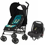 Obaby Atlas V2 Travel System (Turquoise Stripe)