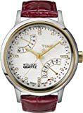 Timex Intelligent Quartz T Perpetual Calendar Red Leather Ladies Watch T2N568