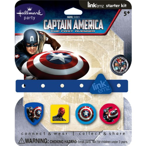 Captain America Party Supplies Link'emz Wristband Starter Set - 1