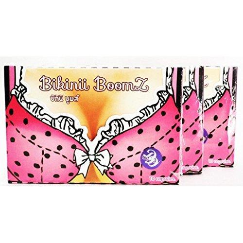Bikinii Boomz Dietary Supplement | Herbal Breast Enlargement & Skin Brightening Supplement (3 X 10 Capsules)