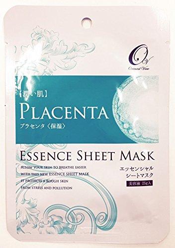 マスクパック オリエンタルビュー エッセンス シート マスク プラセンタ 25g 100枚セット 韓国