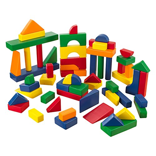 KidKraft 60 PC Wooden Block Set - Primary Colors - 1