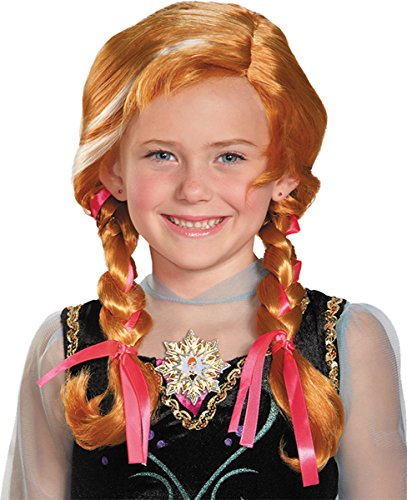 Morris Costumes FROZEN ANNA CHILD WIG, Red, One size