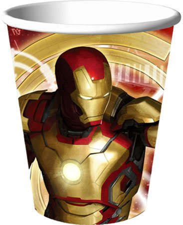 Iron Man Party Supplies - Iron Man 9 Oz Paper Cups - 8 Count - 1