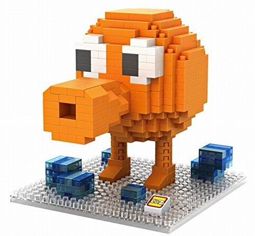 PAC-MAN Adventures Grabbin Toy Action Figure Qbert Blocks Model DIY