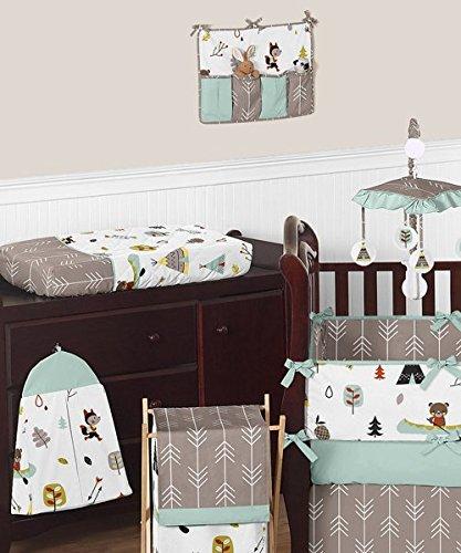 sweet jojo designs outdoor adventure nature fox bear animals boys baby bedding 9 piece crib set