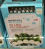 Martha Stewart Living 50-Light Warm White Mini Smooth Globe Light Set