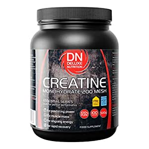 DELUXE NUTRITION MICRONIZED CREATINE MONOHYDRATE 200 MESH 500g TUB STRENGTH,SIZE AND ENDURANCE FREE TRACKED DELIVERY
