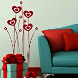 Heart Wall Sticker / Vinyl Art Transfer / Large Graphic Decor / Decal x09