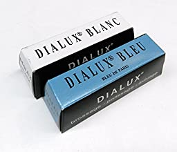 JEWELERS ROUGE DIALUX POLISHING COMPOUND WHITE & BLUE FOR WHITE GOLD AND SILVER (E 8)