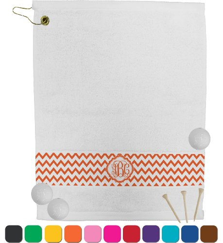 Chevron Personalized Golf Towel front-677802