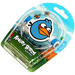 Gear4 HAB005G Angry Birds In-Ear Stereo Headphones Blue Tweeters HAB005G