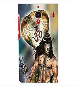 ColourCraft Lord Shiva Design Back Case Cover for XIAOMI REDMI 1S