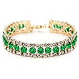 (ネオグロリー) Neoglory Jewelry グリーンジルコンブレスレット【並行輸入品】 …