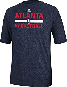 Atlanta Hawks Heather Blue Climalite Practice Short Sleeve Shirt by Adidas by adidas