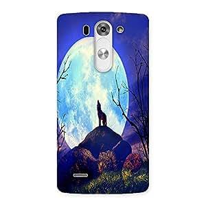 Ajay Enterprises Blue Nature White Moon Back Case Cover for LG G3 Mini