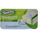 "Swiffer Products - Swiffer - Wet Refill System, Cloth, 12/Box - Sold As 1 Box - Premoistened cloths for 10"" Swiffer Sweeper. - Safe for use on linoleum, vinyl, ceramic and finished wood floors. (Pack of 2)"
