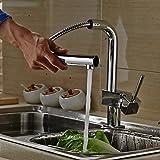 Auralum® 360 ° girevole vanno rubinetto della cucina monocomando rubinetto del lavandino della cucina Einhandmischer con estraibile soffione montaggio