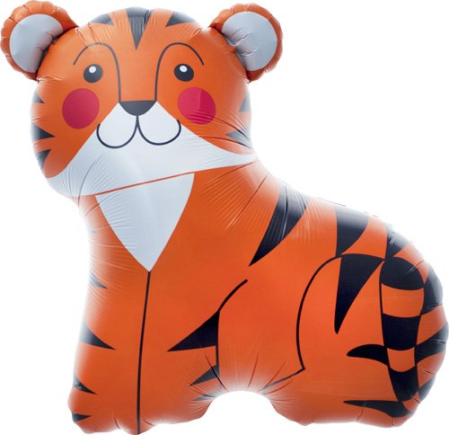 Tiger Helium Foil Balloon - 33 inch
