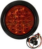 """AutoSmart KL-25108RK 4"""" Round LED Stop/Turn/Tail Light Kit with Red Lens"""