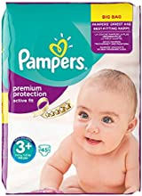 Pampers Active Fit Midi Plus, 5-10 kg, Value Bag, 45 Stück, 2er Pack