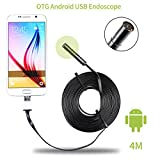 [Upgraded Version] Distianert Endoscope 8.5MM 2.0 Megapixel 2 in 1 Smartphone USB Borescope Inspection Camera for Android System Compatible with laptop (Win/Mac) 6 LED and 4M Cable