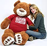 BigPlush-T-shirt-LET-ME-BE-YOUR-TEDDY-BEAR-Giant-Teddy-Bear-Five-Feet-Caramel