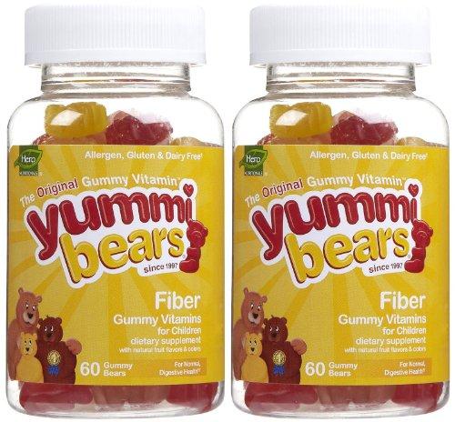 Yummi Bears Fiber Gummies - Fruit Flavor - 60 ct - 2 pk (Yummi Bears Fiber compare prices)