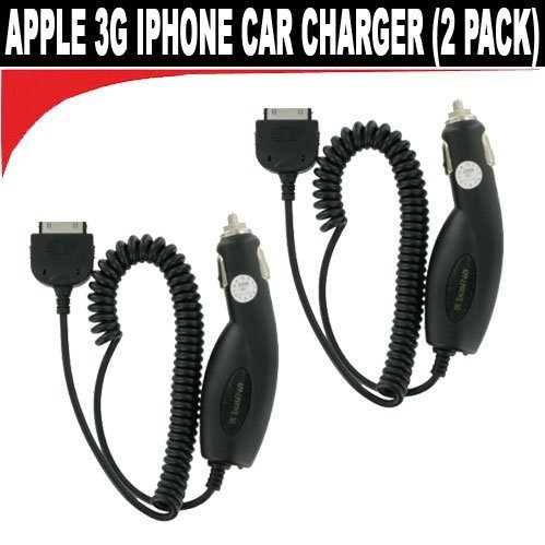Apple 3g Iphone Ipad Car Charger (2 Pack)