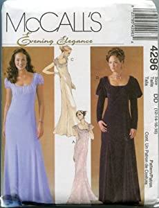 McCall's Sewing Pattern 4296 Size DD (12-14-16-18) Misses'/Miss Petite Dress