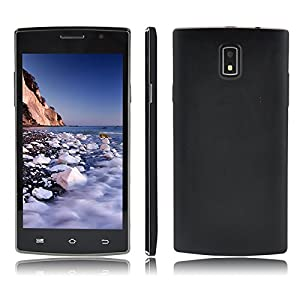 5.0 Inch JIAKE P1 Dual Core Android 4.4 3G Dual SIM Dual Standby WIFI Smartphone SC7715 Dual Core 4GB Dual Cameras 2.0MP GPS Bluetooth FM Protective Case Mobile Phone (+Protective Case, Black)