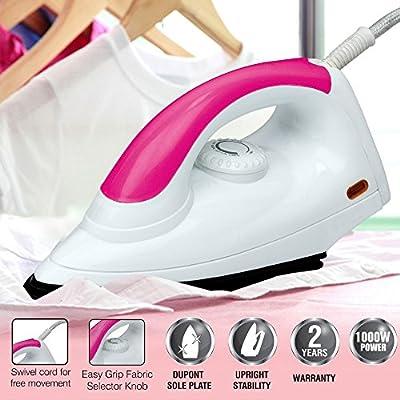 Cello Gloria 1000-Watt Dry Iron (Pink)