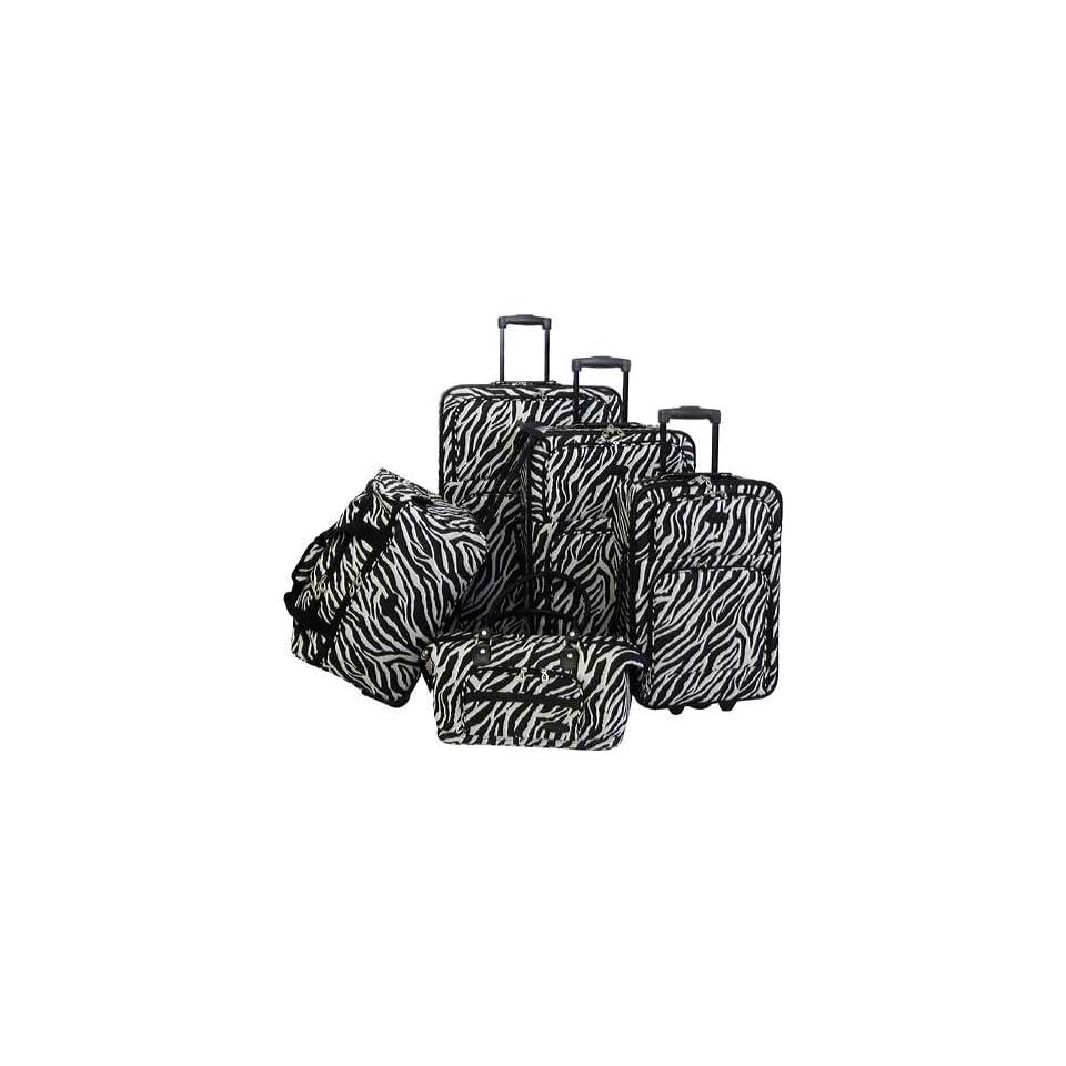 American Flyer Animal Print 5 Piece Luggage Set Clothing