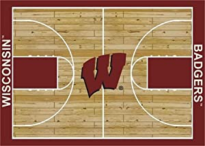 "Wisconsin Badgers 7 8"" x 10 9"" Home Court Area Rug"