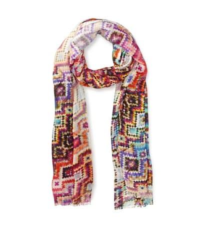 Saachi Women's Geometric Mosaic Digital Print Scarf, Multi As You See