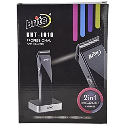 Brite BHT-1010 Professional Hair Trimmer with Dock for Unisex Black