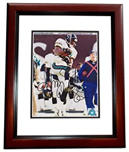 Jimmy Smith Autographed Hand Signed Jacksonville Jaguars 8x10 Photo MAHOGANY CUSTOM... by Real Deal Memorabilia