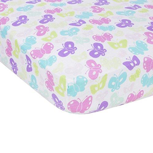 Miracle Blanket MiracleWare Muslin Crib Sheet, Butterflies