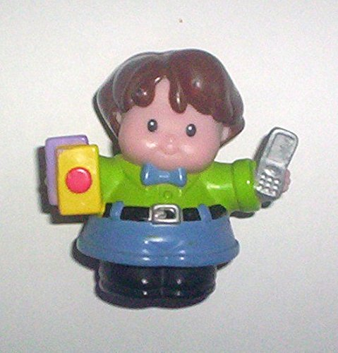 Little People Zoom Around Garage Replacement Man with Books & Cell Phone - 1