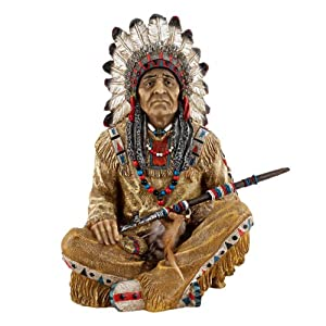 home kitchen home d  233 cor home d  233 cor accents sculptures statuesAmerican Indian Chief