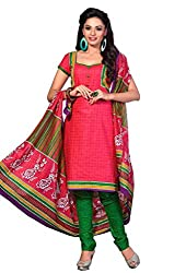 HIFI Ethnicwear Women's Dress Material PINK_Free Size