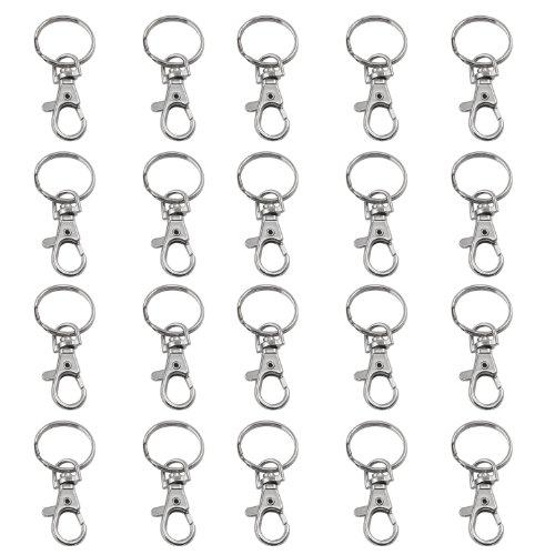 trixes-20-x-piccoli-ganci-rotanti-ad-anello-staccabile-con-moschettone-per-chiavi