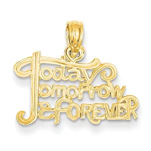 14K Today, Tomorrow & Forever Pendant