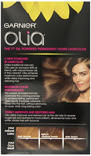 Garnier Olia Oil Powered Permanent Hair Color, 6.0 Light ...