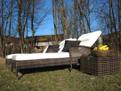 Exklusiver Lounger Luxury maron bicolor günstig